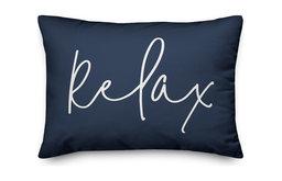 Relax Thin Script Outdoor Lumbar Pillow