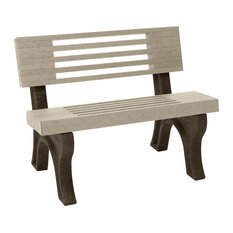 Bench, Cambridge w/Back, 4', Brown Legs, Sand
