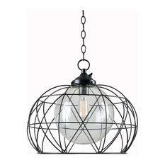 Cavea 1-Light Outdoor Pendant