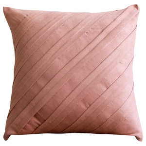 Contemporary Soft Pink, Pink 50x50 Faux Suede Throw Cushions Cover