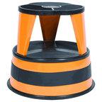 Kik-Step Stool by Cramer - Orange Zest  sc 1 st  Houzz & Scooter Stool Round 15