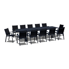 13 Piece Extendable Modern Patio Dining Set