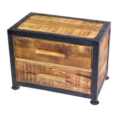 - MODERN RUSTIC BEDSIDE TABLE - Nightstands and Bedside Tables