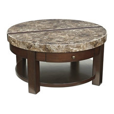 Ashley Furniture Homestore Ashley Kraleene Round Lift Top Coffee Table Dark Brown Coffee