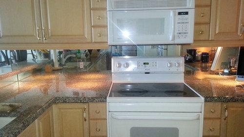 yes to mirror backsplash or no rh houzz com mirror tile backsplash kitchen Antique Mirror Backsplash