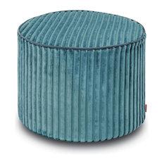 Rabat Cylinder Pouf, Peacock Blue