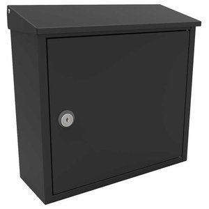 QualArc Allux 400 Top-Loading Locking Wall Mounted Mailbox, Black