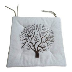 Chinese Embroidery Cotton Cushion Non-Slip Embroidery Chair Pad,D3