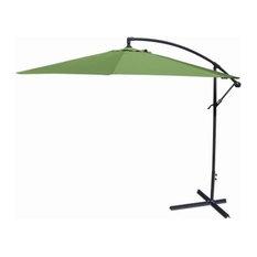 Jordan Manufacturing Offset Umbrella, Olive, 10'