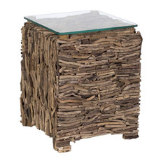 BECARA - Sticks Wooden Side Table - Side Tables and End Tables