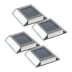 Stainless Steel Outdoor Solar Pathway Light, Set of 4