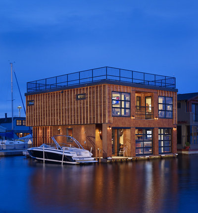 Industrial Exterior by Dan Nelson, Designs Northwest Architects