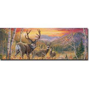 Dream Maker Mule Deer Wood Wall Art Rustic Prints And Posters By Wildlife Wonders