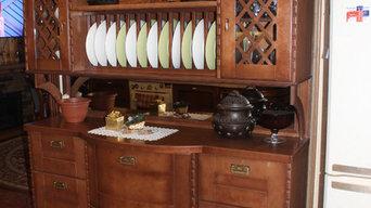 Буфет для кухни-столовой в классическом стиле