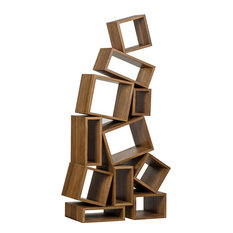 Bookcase Cubist Dark Walnut 9 -Shelf