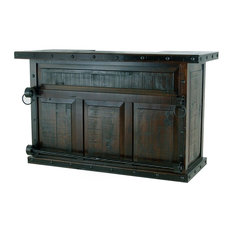 Burleson Home Furnishings - Old World Rustic Gran Hacienda Bar - Wine and Bar Cabinets