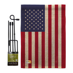 USA Flags of the World Nationality Garden Flag Set