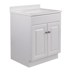 "Wyndham Unassembled 2-Door Vanity Without Top, 24"", White"