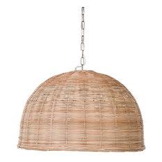 Panay Wicker Dome Pendant Lamp, Natural