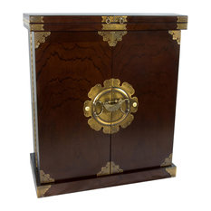 Beau Oriental Furniture   Korean Antique Style Liquor Cabinet Wine Bar   Wine  And Bar Cabinets