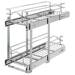 """Rev-A-Shelf - Two-Tier Pull-Out Baskets, 9.0""""w X 22""""d X 19""""h - Rev-A-Shelf's redesigned Two-Tier baskets make other 2-shelf units fail in comparison. With the heavy gage construction, ball-bearing slides on both baskets, and multiple mounting points this is the best two-tier unit on the market. With 100lb slides on each basket you don't have to worry about overloading or bending. Multiple sized width and depths are available, so you are sure to find the exact unit that fits your exact cabinet size. Optimize the performance, by adding the optional door mount kit to add a truly one-step opening/closing process (sold separately - 5WB-DMKIT) This unit features:"""