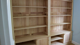 Wall-to-wall ash home-office bookcase