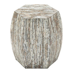 Uma Enterprises - Coastal Living Wood Inlay Accent Table, Multi-Color - Side Tables and End Tables