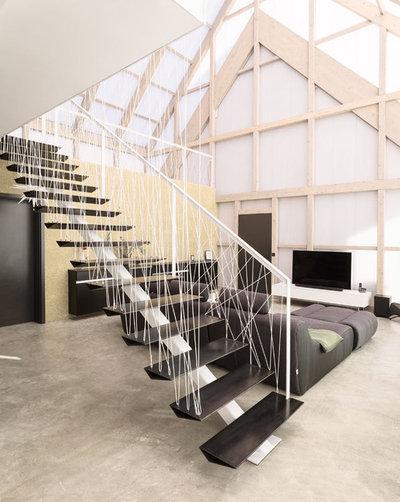 Modern Staircase by büro für bauform