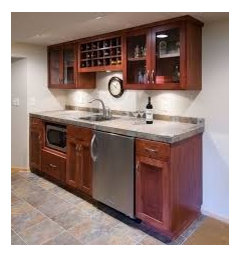 ... Do Thing But If You Want To Incorporate A Stove That Would Be A Bigger  Job. You Could Do Something Like This And Add A Bar Across From The  Cabinets With ...