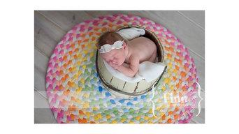 Pastel braided rug for a nursery