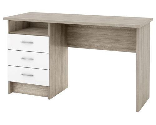 Bureau lenny alinea new malibu bureau blanc tiroirs bureau table
