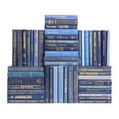 Retro Denim Book Wall, Set of 50