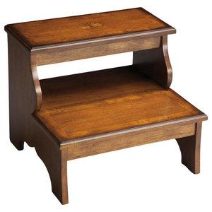 Brilliant Winsome Wood Antique Walnut Wood Step Stool Transitional Creativecarmelina Interior Chair Design Creativecarmelinacom