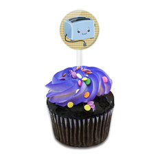 Cute Toaster Cupcake Toppers Picks Set