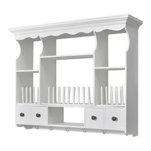 VidaXL White Wooden Kitchen Wall Cabinet