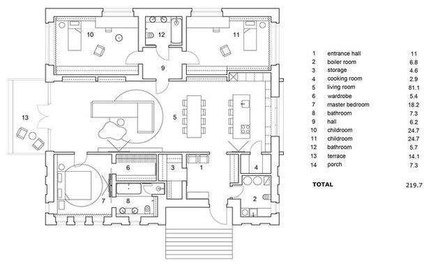 Современный План этажа by Le Atelier