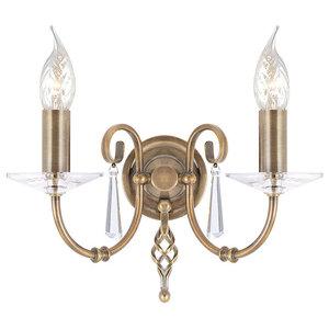 Aegean 2-Light Wall Lamp, Aged Brass