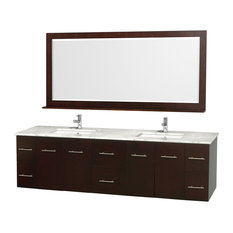 80 in. Wall Mounted Vanity Set