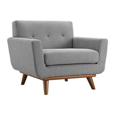 GRIFFON UPHOLSTERED FABRIC ARMCHAIR/EXPECTATION GRAY
