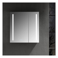 LED Mirror Medicine Cabinet with Defogger, Dimmer, Outlets & USB Ports, 30x32