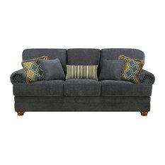 Coaster Home Furnishings   Coaster Dark Gray Bonded Leather Sofa   Sofas