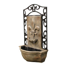 Outdoor Wall Fountain, The Bordeaux, Florentine Stone