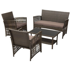Tropical Outdoor Lounge Sets by Baxton Studio