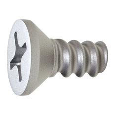 Vitendino Single Screw Wall Hook, Metallic Silver