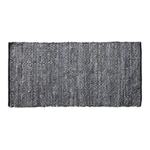 Elisa Large Diamond Leather Rug, 170x240 Cm