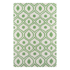 Bliss Hand-Tufted and Hard-Carved Polyster Rug, Green, 8'x10'