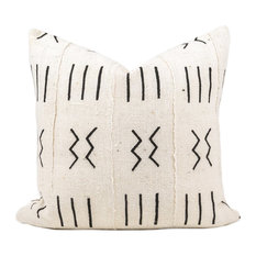 """Elgon African Mud Cloth Pillow, 18""""x18"""", Zipper, With Insert"""