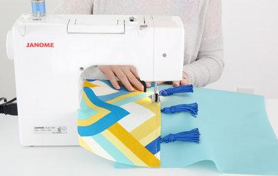 DIY : Une housse de coussin colorée qui résiste à l'extérieur