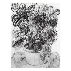 "Pavel Filonov Flowers, 21""x28"" Gallery Wrapped Canvas Print"