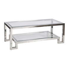 Worlds Away Worlds Away Winston Two Tier Coffee Table Nickel Coffee Tables